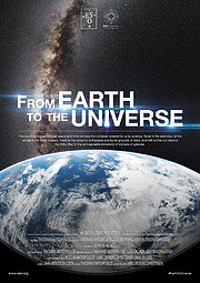 "Poster de la película ""From Earth to the Universe"" (Desde la Tierra al Universo)"