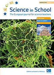 Copertina del n. 32 di Science in School — estate 2015