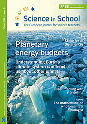 Capa da Science in School nº 34