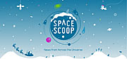 Poster do novo website do Space Scoop