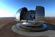 Impressão artística do European Extremely Large Telescope (E-ELT)