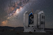 The LEGO® VLT model against the real Milky Way