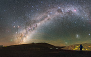 O céu do Paranal com o cometa