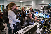 HE Bert Koenders in the control room at Paranal