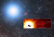 Den forudsagte bane for Alpha Centauri A og B