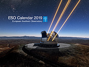 Az ESO 2019-es naptárának címlapja