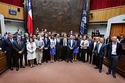 ALMA-delegáció a chilei Szenátusnál
