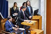 Falando ao Senado Chileno