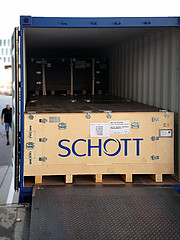 The first shipment of ELT primary mirror blanks arrives at Safran Reosc