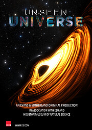 "Key visual vertical ""Unseen Universe"" poster"