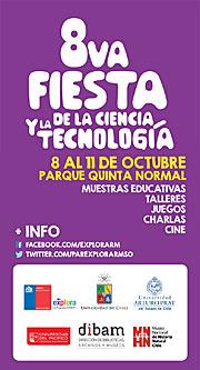 Afiche de la VIII Fiesta de la Ciencia 2014