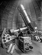 El telescopio del Observatorio Manuel Foster en el cerro San Cristóbal