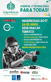 Cartel promocional de las actividades de INGENIOSAS en Temuco