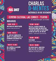 Cartel con las charlas D-Mentes del Festival Internacional de Innovación Social 2017