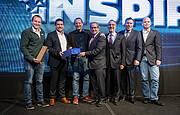 Representantes de Microsoft, Metric Arts y ESO reciben el premio de manos de ACTI