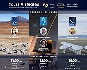 Gráfica de los tours virtuales de ESO, ALMA y VLA