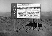 ESO sign at the access road to La Silla