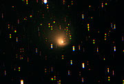 Comet Hale-Bopp, at a distance of nearly 2,000 million kilometres from the Sun
