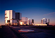 A view of VLT in Paranal