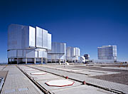 The New Set at Paranal - The VLT, the VST dome and the AT1