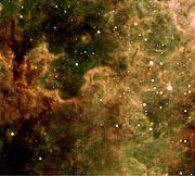 Gas Pillars in Tarantula Nebula