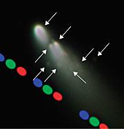 Mini-comets coming off comet SW-3