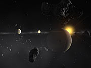 Planetary System Around HD 69830 II (artist's impression)