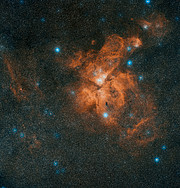 Image de la Nébuleuse de la Carène issue du Digitized Sky Survey