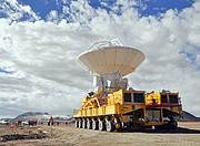 An ALMA antenna en route to the plateau of Chajnantor for the first time