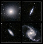 Details of the VISTA Fornax galaxy cluster image