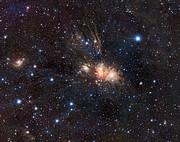 VISTA-Infrarotansicht einer Sternkinderstube im Einhorn