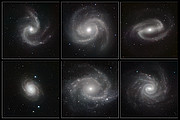 A gallery of spiral galaxies pictured in infrared light by HAWK-I (unannotated version)