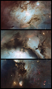 Highlights of Messier 78: a reflection nebula in Orion