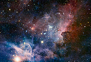 VLT image of the Carina Nebula in infrared light