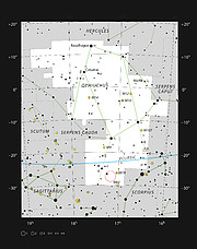 Barnard 59, a dark nebula in the constellation of Ophiuchus