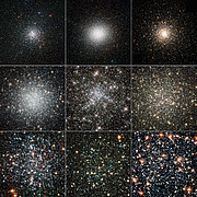 Globular clusters seen by Hubble and from the ground