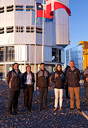 The Crown Prince Couple of Denmark on the platform of ESO's Very Large Telescope