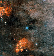 The sky around the star Gliese 667C