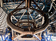 Screenshot from IMAX® 3D movie Hidden Universe showing the interior of the Very Large Telescope