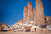Stenformationer i Atacamaöknen