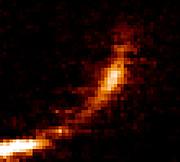 Un nuage de gaz désintégré par le trou noir qui occupe le centre de la Voie Lactée