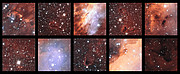 Excerpts from a view of the Prawn Nebula from ESO's VST