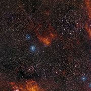Wide-field view of the sky around the star cluster NGC 3572