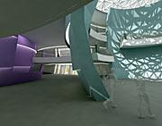 Le nouveau planétarium et le centre d'exposition au siège de l'ESO