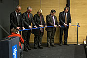 Ribbon-cutting ceremony at the inauguration of the ESO Headquarters  Extension