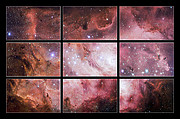 Excerpts from a VST image of the Lagoon Nebula