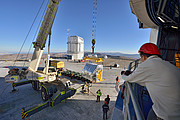 The MUSE instrument during installation at ESO's Paranal Observatory