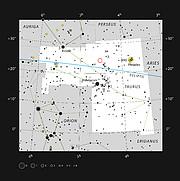 La joven estrella doble HK Tauri en la constelación de Tauro