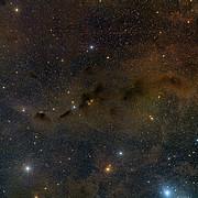 Übersichtsaufnahme eines Teils der Taurus-Sternentstehungsregion