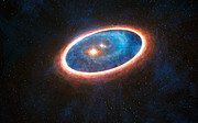 Artist's impression of the double-star system GG Tauri-A